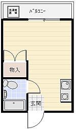 日栄ビル3階Fの間取り画像