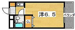 テラスエイト枚方[307号室]の間取り