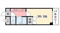 ティオ呉羽[401号室]の間取り