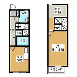 [テラスハウス] 栃木県宇都宮市平出町 の賃貸【/】の間取り