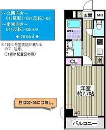 TOCCHI 1番館[505号室]の間取り