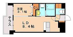 プラトー桜坂[1階]の間取り