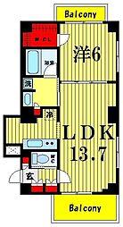 ベルグレードHA[4階]の間取り