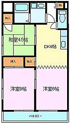 静岡県三島市日の出町の賃貸マンションの間取り
