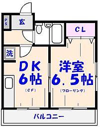 エクセル貴多川第1[306号室]の間取り