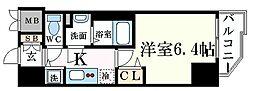 神戸市海岸線 みなと元町駅 徒歩1分の賃貸マンション 4階1Kの間取り