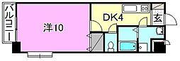 ドルーク南道後 3階1Kの間取り