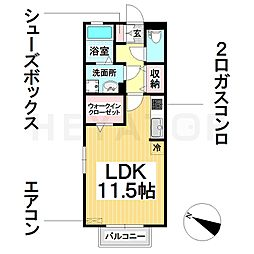 愛知県名古屋市南区本城町1丁目の賃貸アパートの間取り