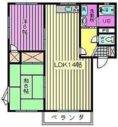 埼玉県さいたま市大宮区三橋3丁目の賃貸アパートの間取り