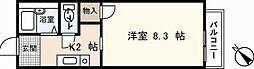 広島県広島市西区山手町の賃貸アパートの間取り