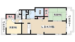 愛知県名古屋市南区平子1丁目の賃貸マンションの間取り