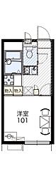 レオパレスエニワン[2階]の間取り