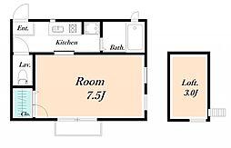 パームテラス[2階]の間取り