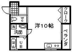 大阪府岸和田市南上町1丁目の賃貸アパートの間取り