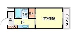 リバーサイド千里[4階]の間取り