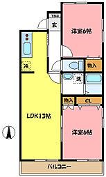 埼玉県さいたま市中央区桜丘1丁目の賃貸マンションの間取り