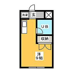 杉荘マンション[1階]の間取り
