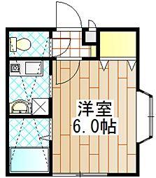 ロッシェル富士見2-1号棟[201号室]の間取り