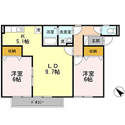 アプリコットハウス[2階]の間取り