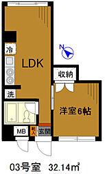 土浦学園通りビル8階Fの間取り画像
