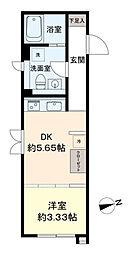 LAPiS武蔵小金井III 3階1DKの間取り