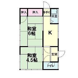 [一戸建] 神奈川県小田原市矢作 の賃貸【/】の間取り