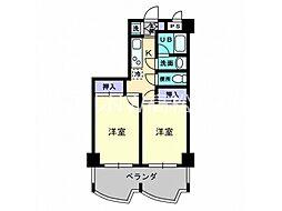 香川県高松市楠上町1丁目の賃貸マンションの間取り