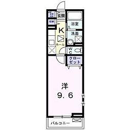 メゾン ボヌール日新[2階]の間取り