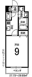 ラフィーネ西沢[1階]の間取り