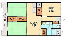 ドムール花見[6階]の間取り