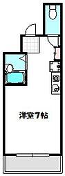 Osaka Metro谷町線 守口駅 徒歩2分の賃貸マンション 3階1Kの間取り