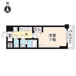 プレサンス京都天使突抜奏202号室 2階1Kの間取り