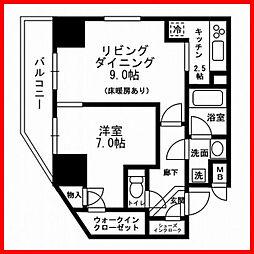 東京都荒川区町屋6丁目の賃貸マンションの間取り