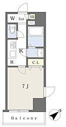 東京メトロ有楽町線 要町駅 徒歩11分の賃貸マンション 4階1Kの間取り
