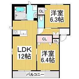 sereno A棟[2階]の間取り
