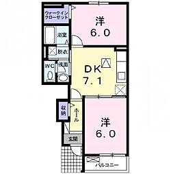 ドミールたかくら 2[1階]の間取り