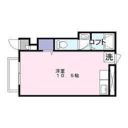 埼玉県草加市松江3丁目の賃貸アパートの間取り