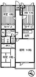 コ−トJ[312号室]の間取り