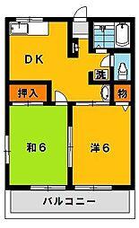フロイデンハイムA[2階]の間取り