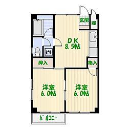ドーブアヤセ[2階]の間取り