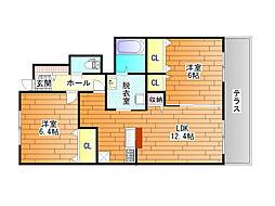 Syamaison トワール (シャーメゾントワール)[1階]の間取り