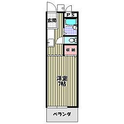 シャローム金剛[2階]の間取り