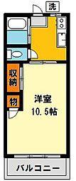 山崎アパート[10号室号室]の間取り