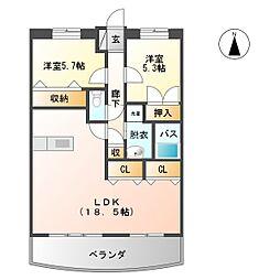 第2古賀ビル[3階]の間取り