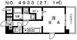 ヴィラルーチェ[7階]の間取り