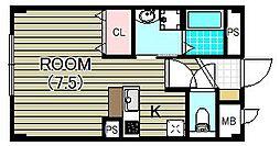 メゾン・エトワール II[1階]の間取り