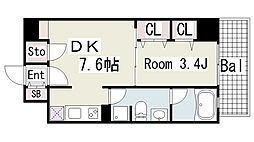 g(ジープラス)[505号室]の間取り