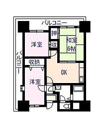 グリンコートマンション[210号室]の間取り