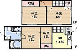[一戸建] 京都府京都市山科区西野山桜ノ馬場町 の賃貸【/】の間取り