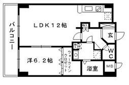 クリエート高宮[4階]の間取り